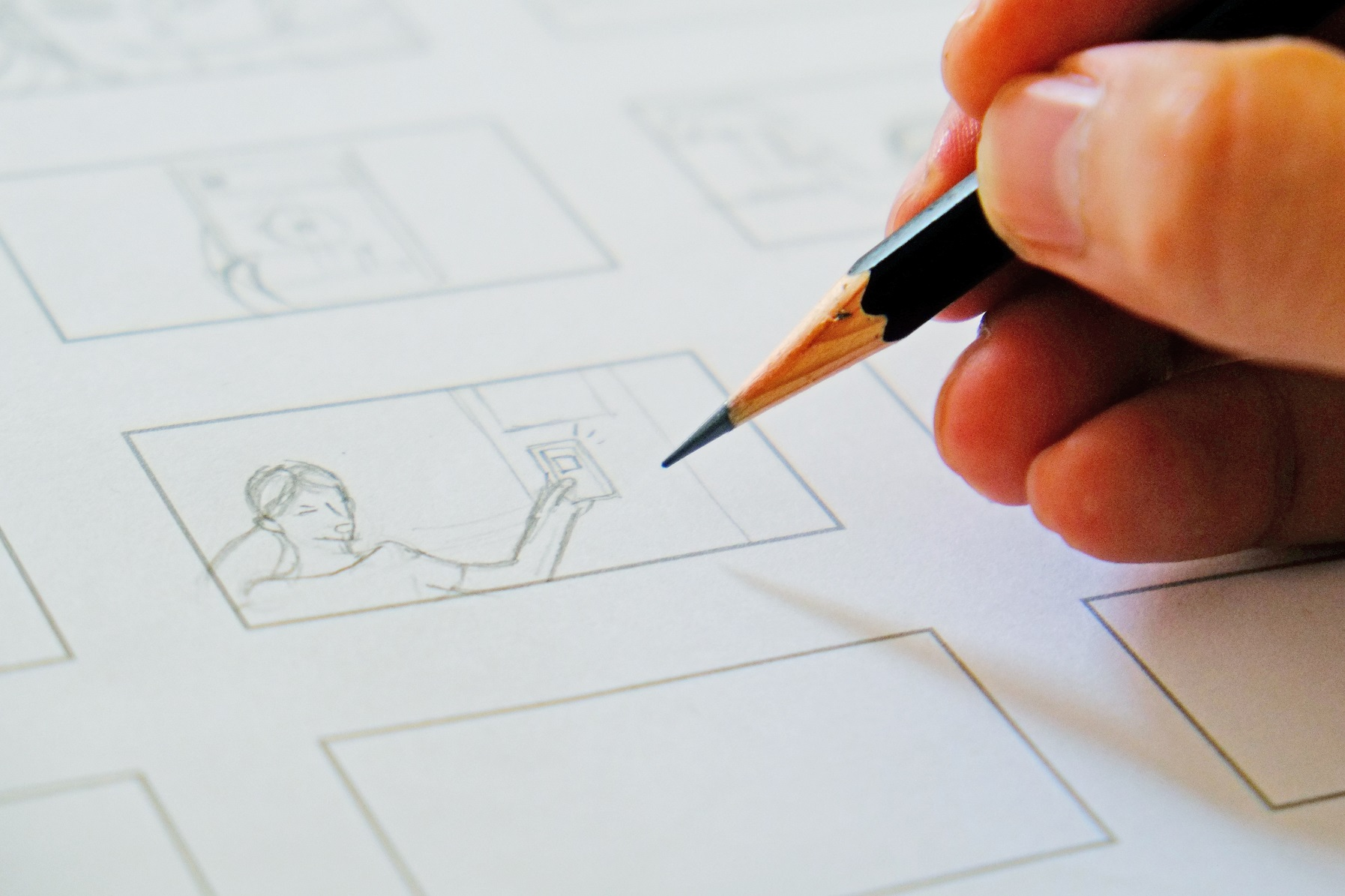 A storyboard under process