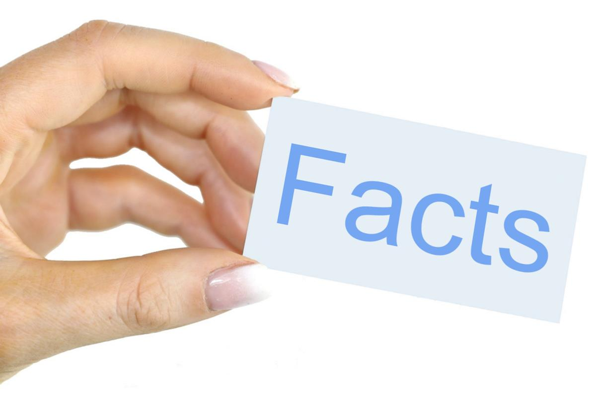 As there are some facts for checking content to be remembered, so a woman is holding paper with Facts written on it to attract focus.