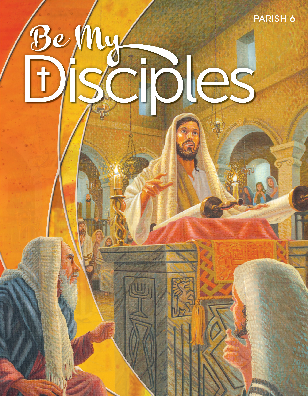 Book cover of Be My Disciples with Jesus preaching at an altar